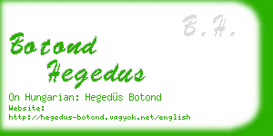 botond hegedus business card